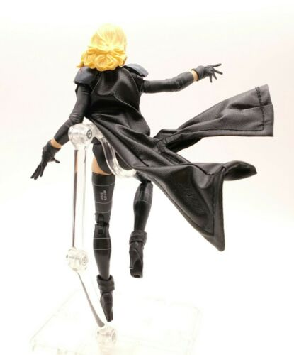 No Figure XS Black Faux Leather Coat for Marvel Legends Emma Frost
