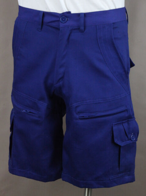 good looking innovative design buying now Cargo Shorts Men's Royal Blue 8 pockets Casual 100% Cotton Twill Ret $44 New