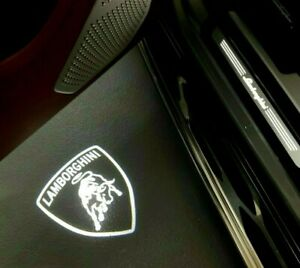 Lamborghini Led Door Lights Shield Logo Huracan Urus Fits Some