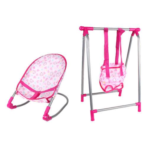 Playset per sedia per bambino con altalena per neonato per bambola per 25-30