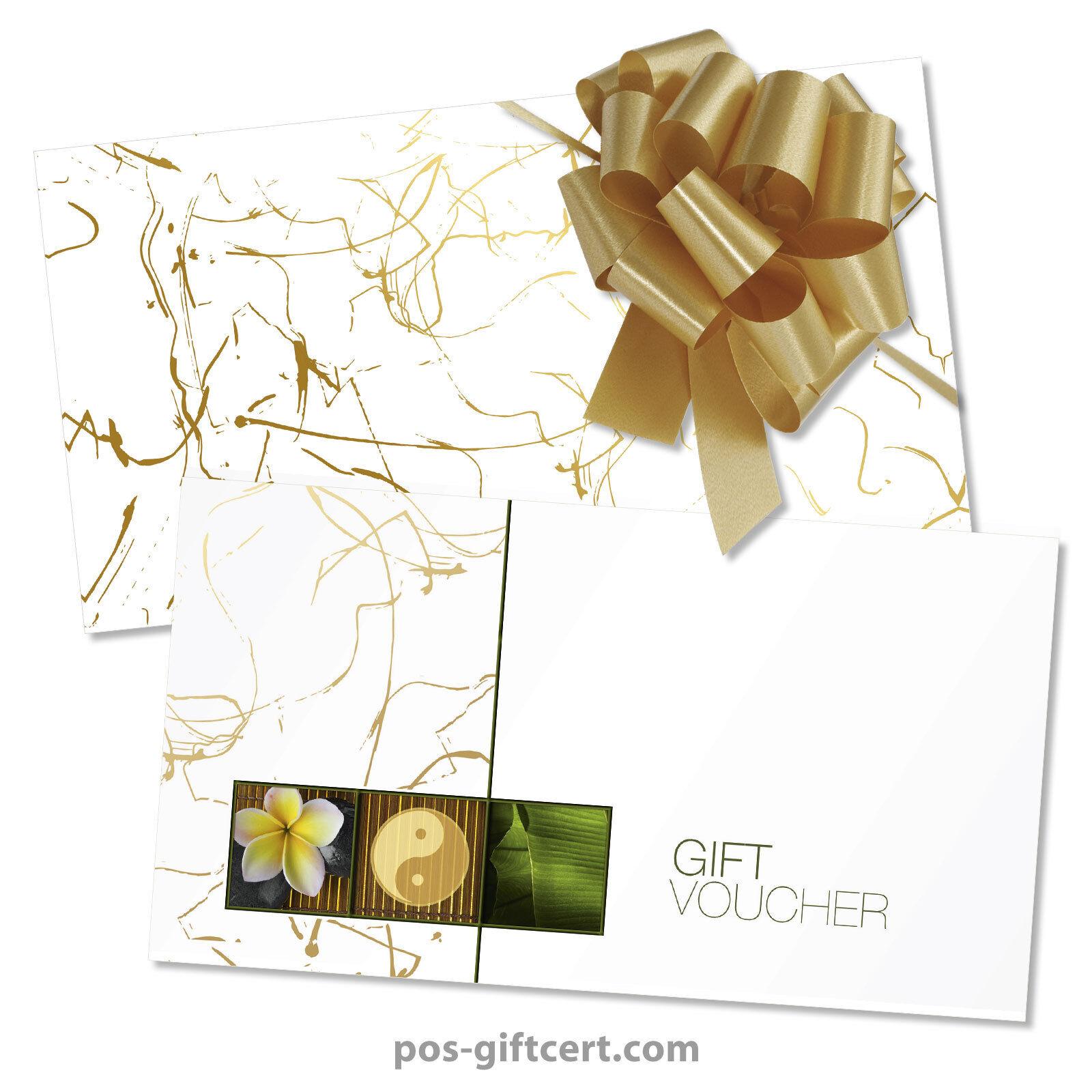 Gift vouchers  envelopes  pull bows for wellness, massage, spa MA1254GB | Realistisch  | Jeder beschriebene Artikel ist verfügbar