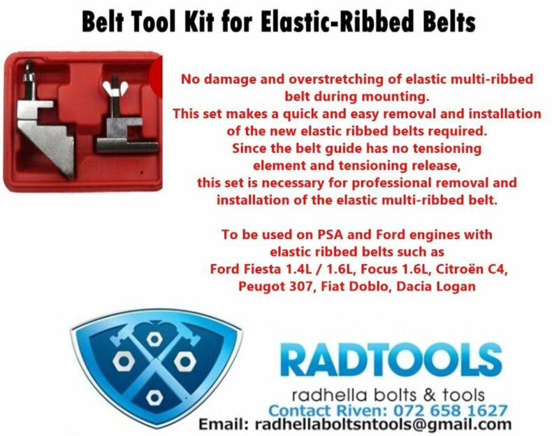 RIBBED BELTS TOOL KIT ON PROMOTION @ R600