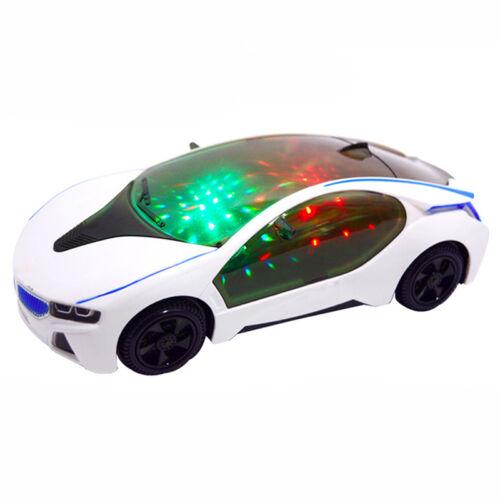1x Kinder-Elektro-Spielzeug mit Rad-Leuchten /& Musik 3D-Supercar-Art Tool