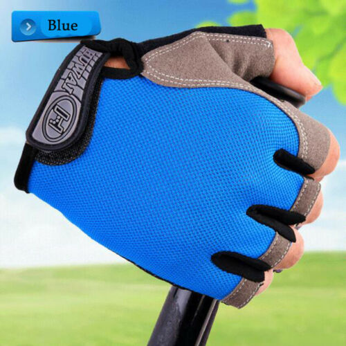 Bike Half Finger Cycling Gloves Gym Workout Wrist Wrap Outdoor Sports Racing