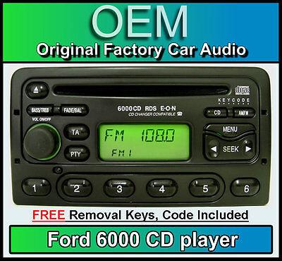 Ford Kuga Headunit Estéreo de Coche Radio retiro llaves cddj Ford 6000 reproductor de CD