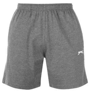 SLAZENGER-Jersey-Herren-Shorts-kurze-Hose-Fleece-Sporthose-Training-Dunkelgrau