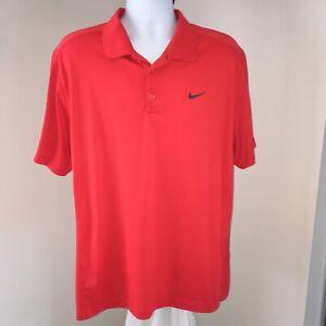 Nike-Golf-Tour-Performance-Shirt-sz-XL-Red-Wynn-Las-Vegas-Dri-Fit