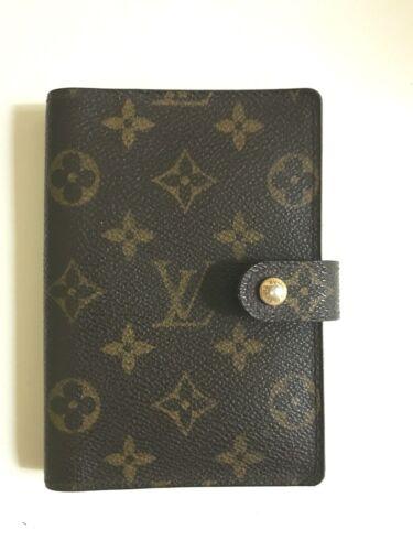 Luis Vuitton Agenda Cover Monogram/Six ring/3 slot
