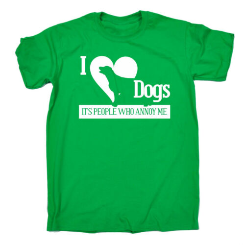 I LOVE DOGS PEOPLE ANNOY ME T-SHIRT pet cats dogs sarcasm funny birthday gift