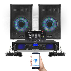 10-034-Karaoke-Party-Speakers-and-Amplifier-DJ-Mixer-amp-Mic-FPL700-MP3-Bluetooth