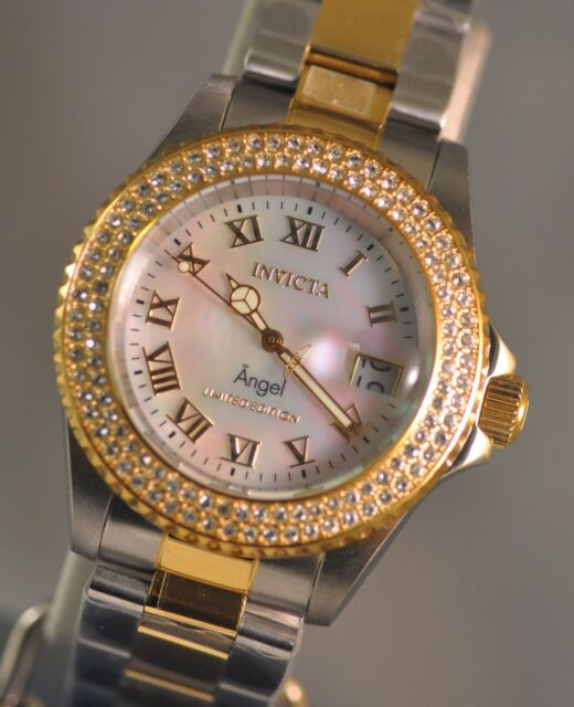 New Womens Invicta Limited Cruiseline Angel Swiss White MOP Dial Two Tone  Watch 2b53ce7de