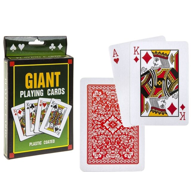 """5/"""" Jumbo Large Giant Pack Playing Cards Portable Game Outdoor Travel Family Deck"""