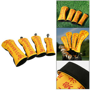 4x Golf Cover Headcover Club Head Protector for Drivers Hybrid Fairway