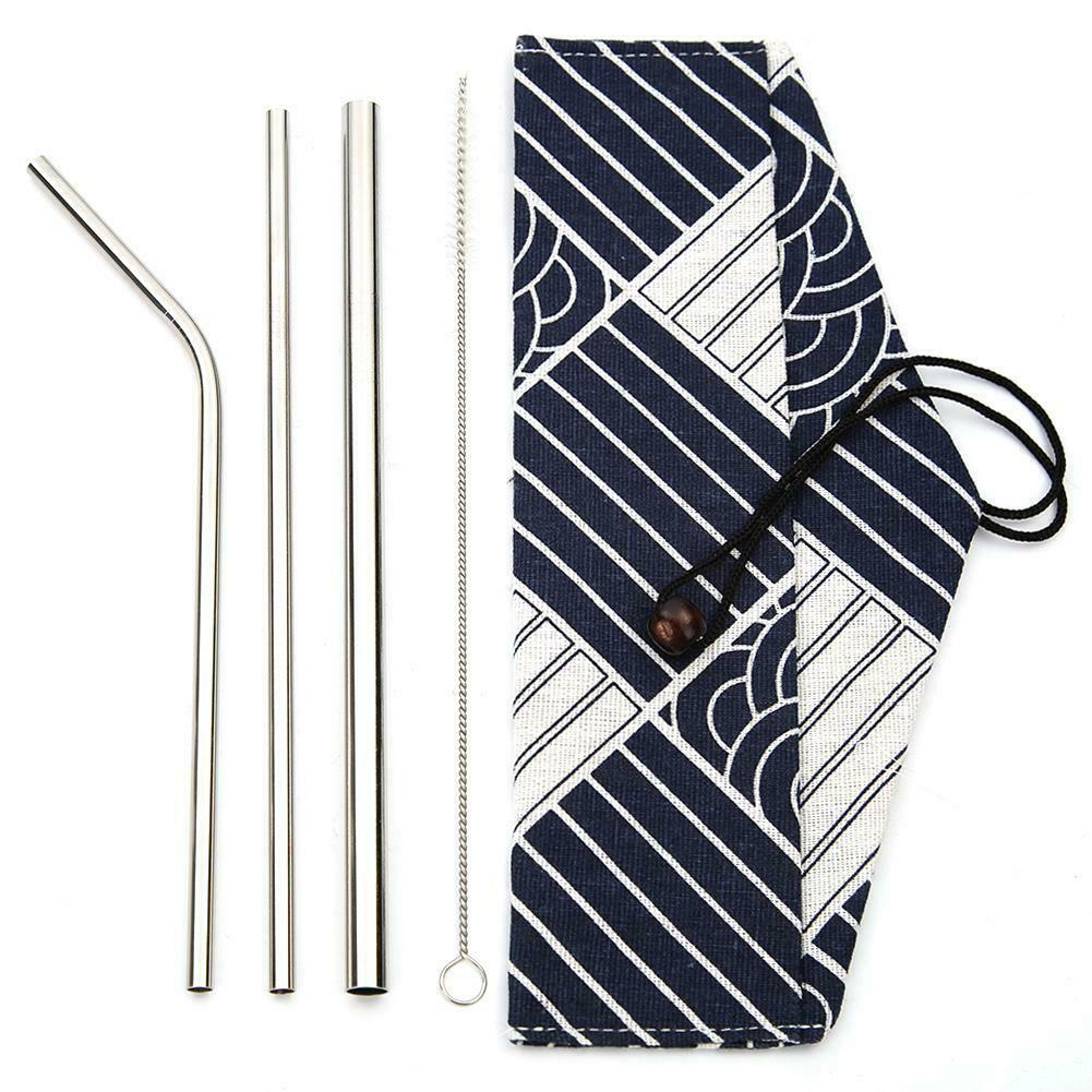 3pcs Straw Brush Stripe Bag