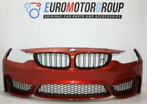 BMW-Pannello-Paraurti-Primed-M-Fronte-3-039-F80-M3-4-039-F82-M4-Sakhir-Orange-Metallic