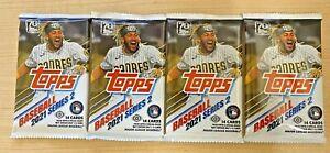 Lot of Four (4) Sealed Hobby Packs - 2021 Topps Series 2 Baseball Cards
