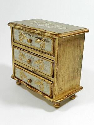 Wood Jewelry Music Box Tole Ware