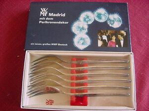 Initiative Wmf Madrid 90 Plaqué 6 Gâteau Fourchettes Neuf Et Neuf Dans Sa Boîte 15,6 Cm-afficher Le Titre D'origine