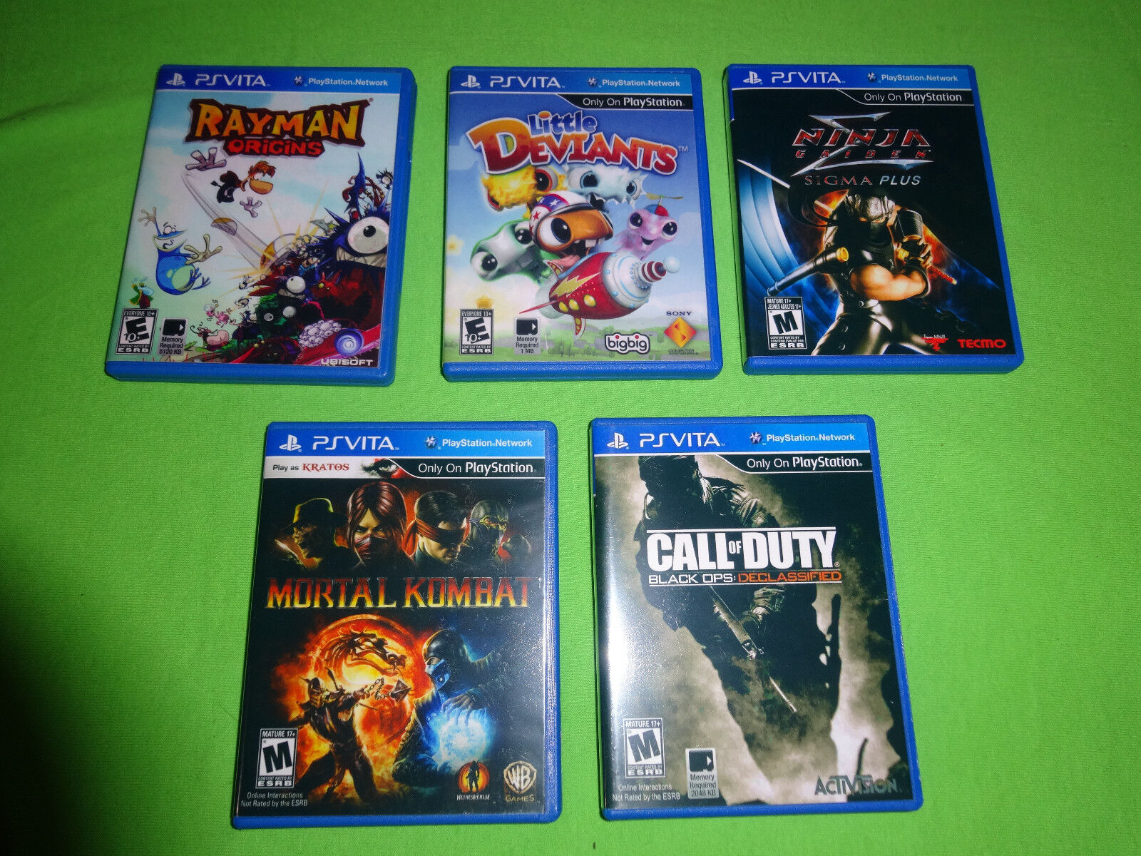 5 Ps Vita Replacement Cases Game Box Case Playstation Mortal Kombat Rayman Ebay