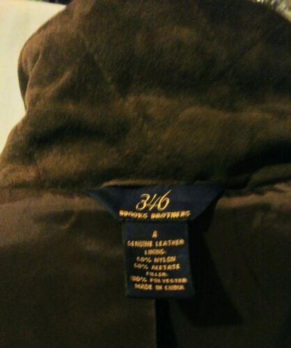 pour 346 4 chocolat matelassée suédé cuir Brothers Veste brun Sz en femmes Brooks gT7WBpz7