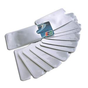10X-Kreditkarte-Schutzhuelle-Bankkarte-Sichere-RFID-Halter-Folienabschirmung-X8J2