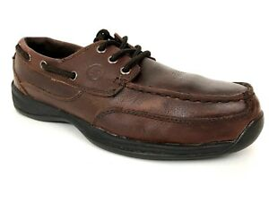 74f9b8e3439 Details about Rockport Works Sailing Club Steel Toe Boat Moc Shoes RK6745  Size US 9.5 W