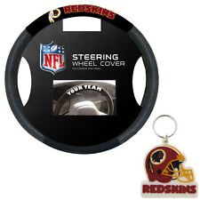 New Washington Redskins Poly-Suede Mesh Car Truck Steering Wheel Cover Keychain