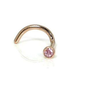 18ct White Gold 2mm Genuine Natural Pink Sapphire Nose Stud Handmade  Genuine Gold Nose stud Nose ring Nose pin Nose bone Nose screw