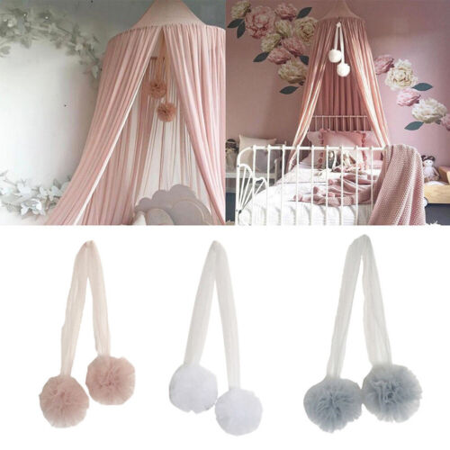 AM/_ BH/_ Wall Pendant Bed Mosquito Net Flower Ball Hanging Ornament Bedroom Decor