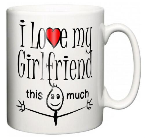 """Lustig Liebend Geschenk Tasse /"""" I Love My Girlfriend Das Viel /"""" Tee Kaffee"""