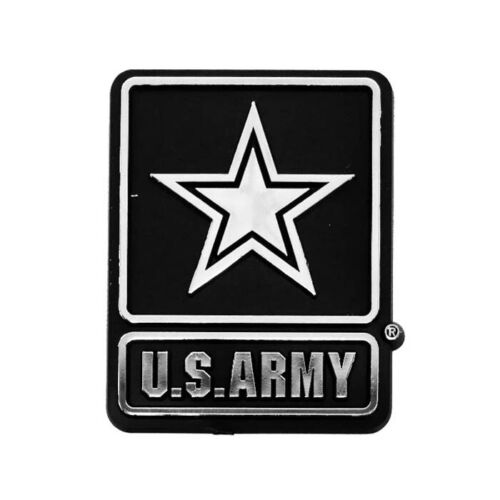 ARMY UNITED STATES AUTO EMBLEM CHROME PLASTIC CAR TRUCK ACCESSORIES US MILITARY