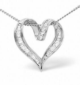 Heart-Pendant-Baguette-Diamonds-White-Gold-Premium-Diamond-Appraisal-Certificate
