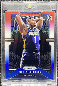 Zion-Williamson-2019-20-Panini-Prizm-Red-White-amp-Blue-248-RC-Rookie-ZW1
