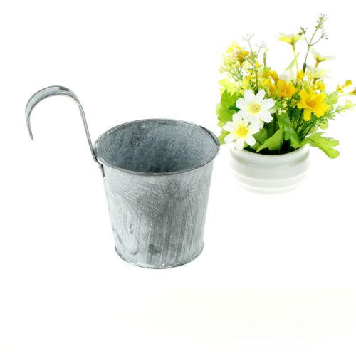 5X Pot De Fleur Suspendu Pots balcon plante de jardin Métal Crochet Fer Plante $ M