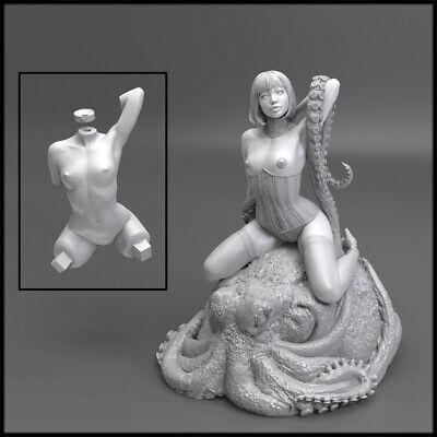 High-Q Resin Figure Model 1//8 Original Character Octopus Girl Garage Kits Statue