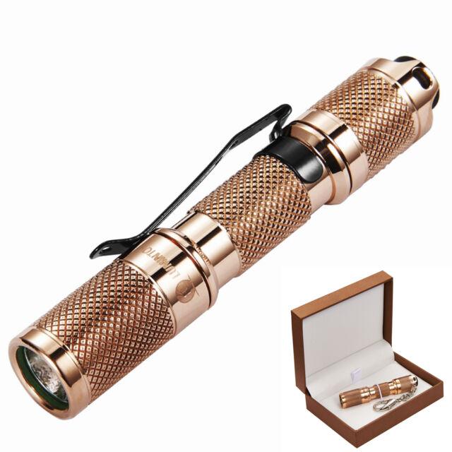 110 Lumens Keychain Flashlight Lumintop TOOL AAA Copper Cree XP-G2(R5) LED Light