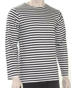 RUSSIAN-NAVY-LONG-SLEEVE-TELNYASHKA-SAILOR-T-SHIRT-BLACK-amp-WHITE-34-46-034-CHEST