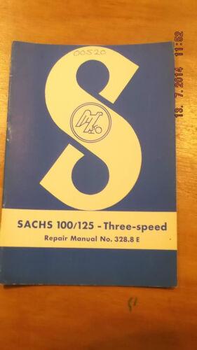 Originale Sachs 100//125 Tre Velocità Manuale di Riparazione Nr 328.8 e 97-00520
