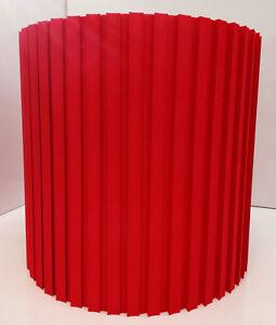 Lampenschirm-E27-Stehleuchte-Haengeleuchte-Textil-Baumwolle-30-rot-Plissee