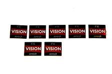 AMD Vision FX Sticker 7x Stück pcs Aufkleber CPU Laptop Label logo neu new