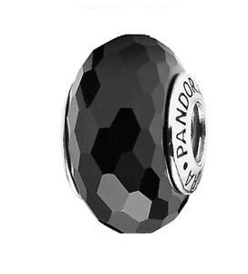 Pandora-Fascinating-Black-bead-925-sterling-silver-ALE-auth-791069