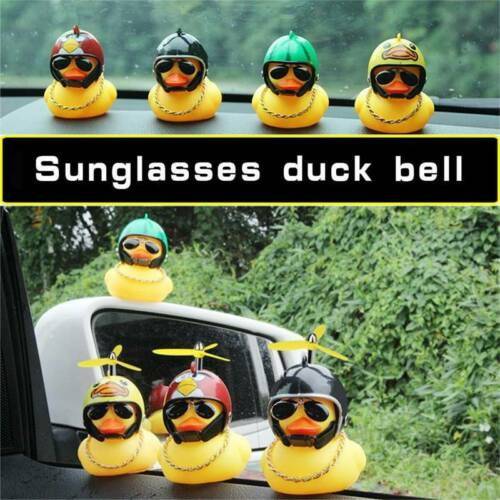 Rubber Duck Toy Car Ornaments Yellow Duck Car Dashboard Decorations with P @TP