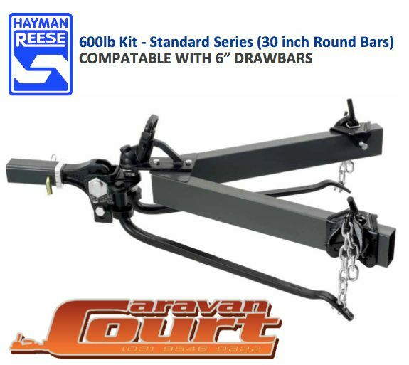 """NEW Hayman Reese 600lb 275kg Round bars 6"""" compatable Weight Distribution Hitch"""