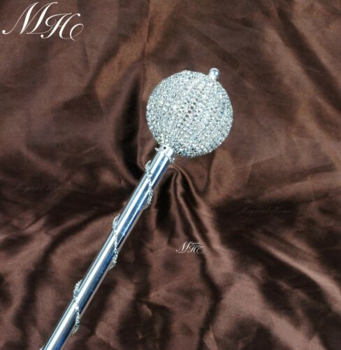 Round Ball Scepters Wand Rhinestones Wedding Magic Fairy Sceptres Pageant Party