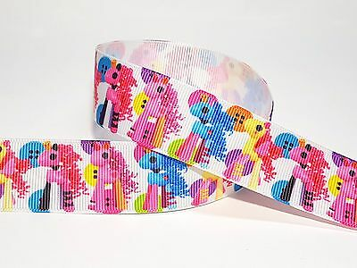 25mm Colourful Little Pony Buttons Printed Gorsgrain Ribbon -- 3yds Elegant In Style