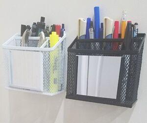 Mesh-Storage-Mirror-Magnetic-Kitchen-Bath-Locker-School-Makeup-Desk-Office-Caddy