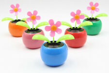Hot Solar Power Flip Flap Flower For Car Swing Dancing Flower Toy Gift Colorful