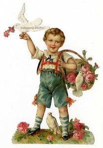 Vintage-Victorian-die-cut-paper-scrap-boy-with-pigeons-from-ca-1880
