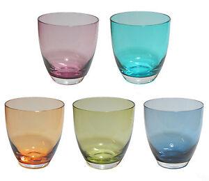 Bunte-Trinkglaser-farbiges-Glas-mundgeblasen-360-ml