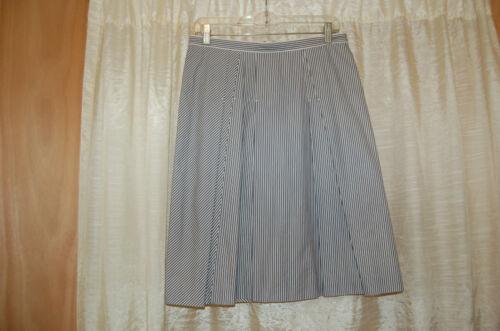 'S Max Mara Cotton/Silk Striped Pleated Skirt Size